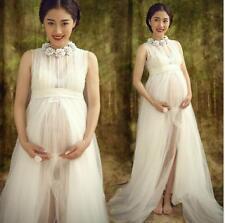 White lace Maternity dress Photography Props Long lace dress pregnant women maxi