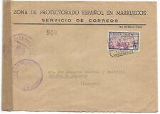 Spanish Morocco: 1953; Cover Morocco to Logroño, XF, EBSP001