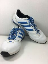 Adidas Mens Mega Softcell White Blue  G43933 Sz 13 Sneakers Athletic Shoes EUC