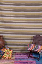 Indian Hand Loomed Striped Bedding Woven Wall Hanging Hippie Dorm Throw Tapestry
