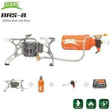 BRS-8 Oil/Gas Multi-Use Stove Cooking Camping Outdoor Stove Portable Lightweight