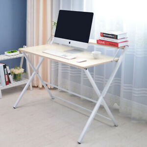 Simple Compact Folding Desk Computer Desk Foldable Laptop PC Study Table 100cm