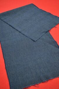 "Vintage Japanese Fabric Cotton Antique Boro Patch Indigo Blue SHIMA 41""/BT52/85"