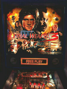 DATA EAST PINBALL MACHINE LETHAL WEAPON 3  MANCAVE FREE SHIPPING