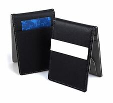 New Mens Money Clip PU Leather Wallet Ultra Slim Credit Card Holder Purse Grey