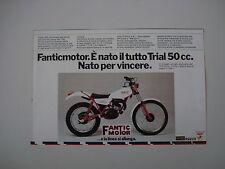 advertising Pubblicità 1979 MOTO FANTIC 330 TRIAL 50