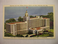 Vintage Linen Postcard Aerial View Of Edgewater Gulf Hotel In Mississippi Unused