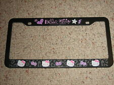 VERY COOL!! HELLO KITTY LICENSE PLATE FRAME SANRIO LICENSED BRAND NEW!!