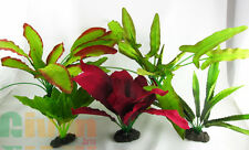 Aquarium Plants for Plastic Tank Silk COMBO A(4)