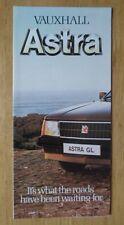 VAUXHALL ASTRA MK1 RANGE 1980 UK Mkt Small Format Sales Brochure