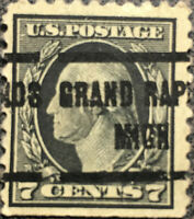 Vintage Scott #469 US 1916 7C Washington Postage Stamp Perf 10