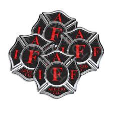 IAFF Sticker Decals 4pack Firefighter Intl Maltese Cross 2inch wide Black w Red