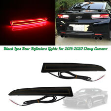 1Pair Rear Bumper Black Lens Brake Tail LED Lights For 2016-2020 Chevy Camaro