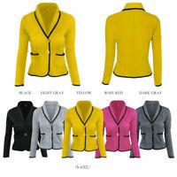 Casual Ladies Women'S Suit Blazer Business Slim Fit Lapel Jacket Coat Outwear