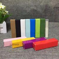 20 X Paper Case Box for Lip Balm Tube Lipstick DIY Packaging 2X2X8.5cm 10 Colors