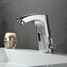 Automatic Hands Touch Free Sensor Faucet Hot& Cold Water Mixer Tap Battery Power