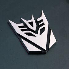 Transformers Chrome 3D Logo Emblem Badge Decal Car 6cm Sticker Decepticon NEW