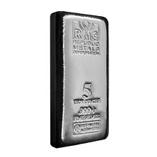 5oz Silver Casted RMC Bar