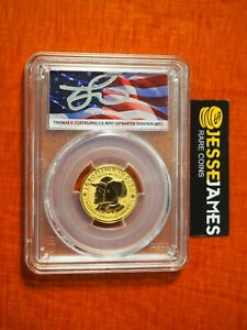 2020 W $10 REVERSE PROOF GOLD MAYFLOWER PCGS PR70 FLAG CLEVELAND FS 1/4 OZ GOLD
