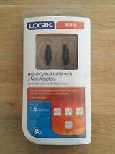 Audio digital óptico chapado en oro de cable de fibra óptica láser adaptadores Logik 1.5M