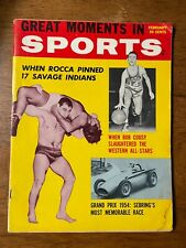 Great Moments in Sports Magazine February 1958