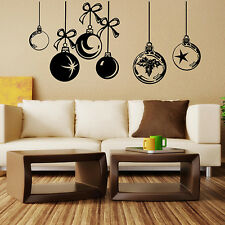 CHRISTMAS WINDOW DECORATIONS CHRISTMAS WALL Sticker BAUBLES WINDOW STICKERS  N88
