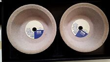 """Dresser Bay State 6"""" Vitrified Cup Grinding Wheels, 2 pcs, 46 Grit"""