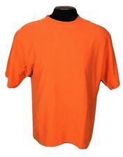 Vintage Mens Large 80s 90s Todays News Brand Solid Blank Orange T-Shirt