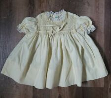 Vtg Polly Flinders Yellow/White Lace Trim Dress - No Tag. 0-3 mths
