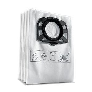 Genuine Karcher 2.863.006.0 Pack 4 Fleece Bags For MV4 OEM Part