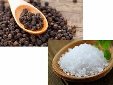 Sea Salt Coarse 200g - Whole Black Peppercorns 100g (2 Pack)