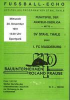 OL 91/92 SV Stahl Thale - 1. FC Magdeburg, 20.11.1991