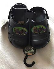 BNWT Boys Black Teenage Mutant Ninja Turtles Sandals  Shoes.Size 6-7 Shoe