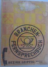 Branchen -Fernsprechbuch Bezirk Leipzig Deutschen Post Ausgabe 1970