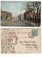 Great Britain EASTERN TPO UP cancel on 1904 KEV11 postcard to WHITLEY BAY
