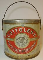 Old Vintage 1930s COTTONSEED OIL COW GRAPHIC TIN KITCHEN NEW ORLEANS LOUISIANA