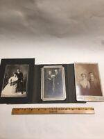 Vintage Lot of 3 Photographs Cabinet Photos Portraits Couples