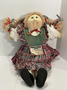 1985 Vintage Christmas Edition Soft Sculpture Cabbage Patch Doll Xavier Roberts