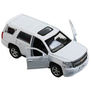 "Chevrolet Tahoe, metal model, Matt white, 12см/ 5"""