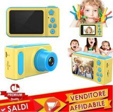 Macchina Fotografica x Bambini Fotocamera Digitale Portatile VideoCamera 1080p A
