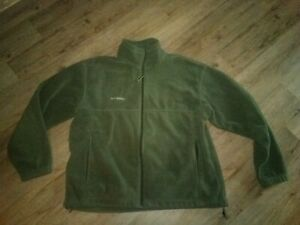 Mens Columbia Green Fleece Zip Front Jacket Sz XL Super!!