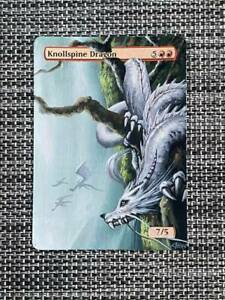 Knollspine Dragon MTG Magic Hand Painted Altered Extended Borderless Art <(((-<