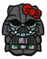"Hello Kitty Darth Vader Star wars Empire dark side Morale [3 ""] iron on patch"