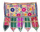 Vintage Door Valance Kutch Hand Embroidery Beautiful Banjara Tapestry Throw Rare