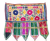 Vintage Door Valance Kutch Hand Embroidery Beautiful Banjara Tapestry Throw Rare