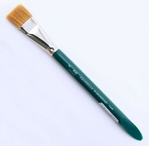 "Grambacher Aquarelle 1"" Flat Wash Brush Ox Hair Slanted Bevel Handle Made In USA"