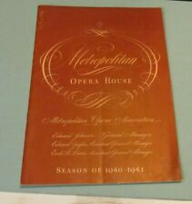 January 25 1941 New York Metropolitan Opera House Ballet Program Monna Montes