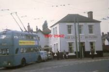 "PHOTO  1969 WALSALL  CROSSLEY TDD43/2 TROLLEYBUS 850 (HBE 541) AT THE ""RED LION"""