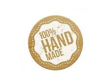 """Woodies Stempel / Motivstempel """"100% Handmade"""" ø 30 mm"""