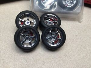 1/18 GREENLIGHT LOW PROFILE PERFORMANCE WHEEL SET FOR REPAIR DIORAMA BRAND NEW